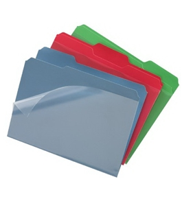 Find It Clear View File Folder with Clear Front Sheet, Pack of Six, Assorted Colors (FT07187)
