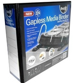 Find It Gapless Mega Media Binder, 4 Inch Spine, 224 CD Capacity, No Pages Included, Black (FT07015)