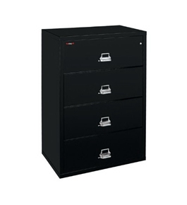 "Fireking Fire-Resisting File - Lateral File - 44-1/2 X22-1/8 X52-3/4"" - Black"