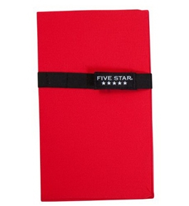 Five Star BookSleeve, Red (72429)