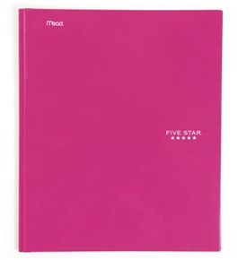 Five Star Pocket and Prong Folder, Pink (72355)