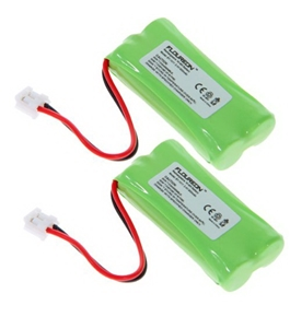 Floureon 2x Rechargeable Cordless Phone Battery for Uniden DECT 6.0 BT101 BT1011 Cordless Telephone Battery Replacement Pack