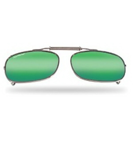 Flying Fisherman SpringLock Clip-On Large Square Shape Polarized Sunglasses