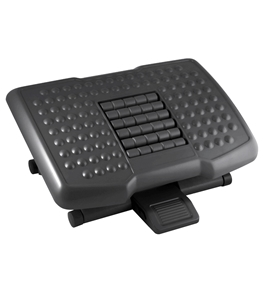 Kantek FR750 Premium Adjustable Footrest with Rollers - Black
