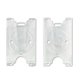 GBC BadgeMates Convertible Card Holders, Horizontal or Vertical Orientation, Clear, 25 Holders per Pack (3748071)