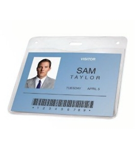 GBC BadgeMates Horizontal ID Badge Holder, 4 x 3 Inches, Clear, 25 Holders per Pack (3747472)