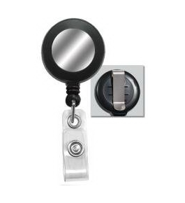 GBC BadgeMates Retractable Badge Reels, Black, 5 Reels per Pack (3748049)
