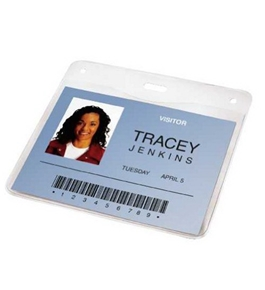 GBC Pre-Punched ID Badge Laminating Pouches, 5 mm Thickness, Clear, 50 Pouches per Pack (3747552)