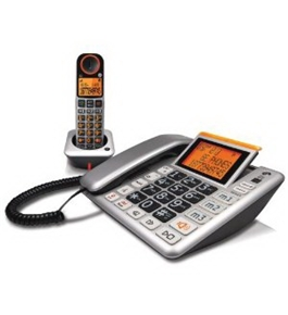 GE Easy to Use Amplified Corded and Cordless Speakerphones with Caller ID and Digital Answering System
