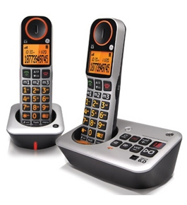 GE Easy to Use Amplified Cordless Dual Handset Speakerphone with Caller ID and Digital Answering System (30542EE2)