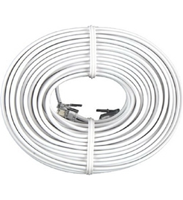 GE TL26530 Line Cord (50 Ft., White, 4-Conductor)
