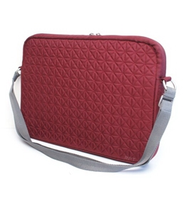 "Genuine Belkin Garnet Red F8N093-083 15.4""-Inch Quilted Nylon Laptop Notebook Shoulder Bag Tote Carrying Case, With Plush Inner Lining To Protect Your Laptop Notebook From Scratches, Exterior Dimensions: 11-1/2"" x 16"" x 1-1/2"""