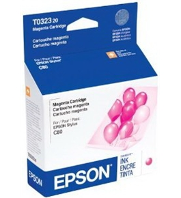 Genuine Epson T0323 Magenta Ink Cartridge T032320 Sealed Bag ; Stylus C80N C80