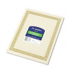 "Geographics 21015 Diplomat Printable Certificates, 8.5"" x 11"" (50-Pack)"