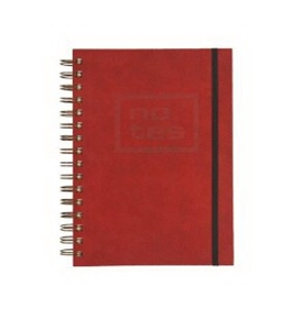 Grandluxe Enzo A5 Journal, 160 Sheets, 5.8 x 8.3-Inches, Red (501259)