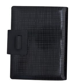 Grandluxe Global Geometric Cameleon Executive PU Leather Organiser Black, 8.3 x 5.8-Inches (232245BK)