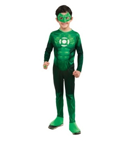 Green Lantern Child's Hal Jordan Costume - One Color - Large