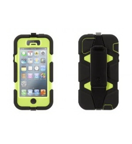 Griffin GB35681 Survivor Case for iPhone 5 - 1 Pack - Retail Packaging - Blac...