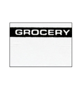 Garvey Preprinted GX1812 White/Black Grocery Labels for a 18-6 Labeler