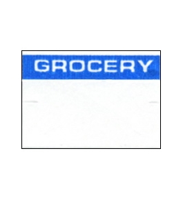 Garvey Preprinted GX1812 White/Blue Grocery Labels for a 18-6 Labeler