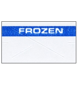 Garvey Preprinted GX2212 White/Blue Frozen Labels for a 22-6, 22-7 and 22-8 Labeler