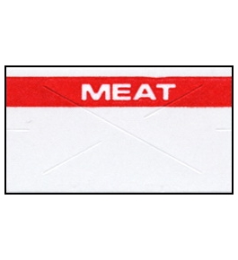 Garvey Preprinted GX2212 White/Red Meat Labels for a 22-6, 22-7 and 22-8 Labeler