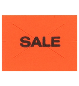 Garvey Preprinted GX2216 Red/Black Sale Labels for a 22-66, 22-77 and 22-88 Labeler
