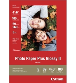 Canon Photo Paper Plus Glossy II, 4 x 6 Inches, 100 Sheets (2311B023)