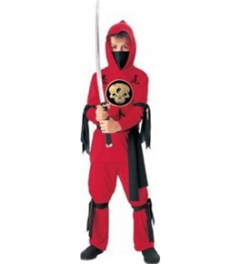 Halloween Concepts Child's Red Ninja Costume, Small