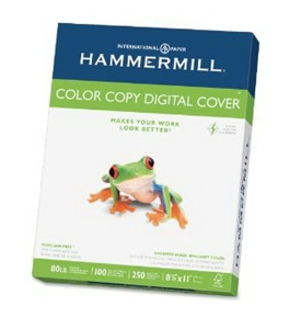 Hammermill Color Copy 80 lb 8 1/2 x 11 Inch Photo White Cover Stock 250 Sheets (12002-3)