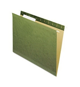 "Hanging Box Bottom Folder with InfoPocket, Standard Green, Letter, 2"" Cap., 25/Box (ESS4152X2)"