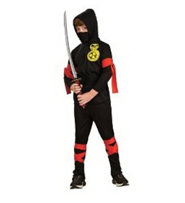 Haunted House Child's Black Ninja Costume, Small