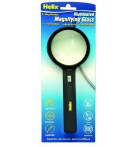 Helix Magnifying Glass, 5X Illuminated 3 Inch Diameter, Clear (61009)