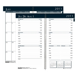 House of Doolittle Academic Weekly/Monthly Pocket Planner, 12 Months July 2011 to June 2012, Black (HOD25539)