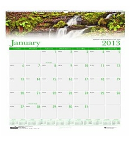 House of Doolittle Earthscapes Waterfalls of the World Wall Calendar 12 Months 2013 Photo, Recycled (HOD3811)