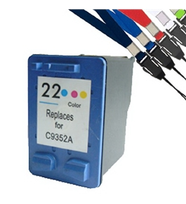 Printer Essentials for HP 22 - HP Deskjet F300 Series/3900 Series/D2300 Series - Color - RM9352 Inkjet Cartridge