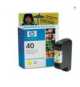 Printer Essentials for HP 40 Yellow - HP DeskJet 1200/1220/1600, DesignJet 430/650 - RM640Y Inkjet Cartridge