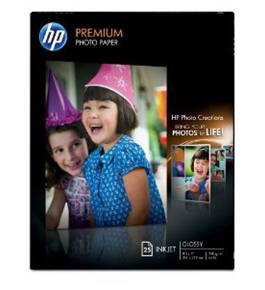 HP Premium Photo Paper, Letter Size Glossy (25 Sheets, 8.5 x 11 Inch) 64 lb. (216 x 278mm)