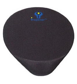 i-Opener Mouse Pad with Wrist Rest MousePad Gel Cushion (BLACK)