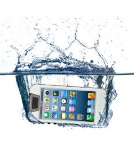 iContact IC-W505 Waterproof Case for iPhone 5 - Retail Packaging - Clear/White