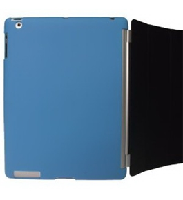 iGadgitz Blue Tough Crystal Gel Skin (Thermoplastic Polyurethane TPU) Back Cover for Apple iPad 2 + Sc