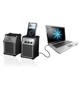Innovative Technology Set of 2 Computer Speakers with MP3 Dock (Audio/Video/Electronics / Karaoke Machines)