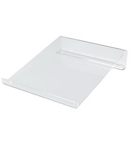 Innovera Multipurpose Acrylic Riser/Stand, Nonskid Pads, 9 x 11 x 2.25 Inches (55125)