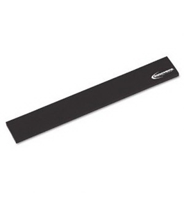 Innovera Natural Rubber Keyboard Wrist Rest, Black