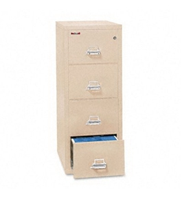 Insulated Four-Drawer Vertical File - Parchment Color