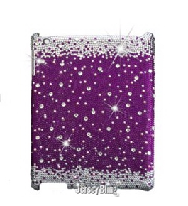 Jersey Bling PURPLE Crystal & Rhinestone Ipad case for Models 2, 3 or 4
