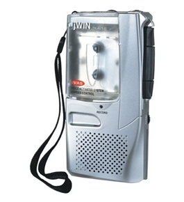 JWIN JXR16 Voice-Activated Micro Cassette Recorder