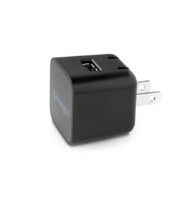 Kensington AbsolutePower 1.0 PowerWhiz Fast Wall Charger for Smartphones, Black - K39595AM