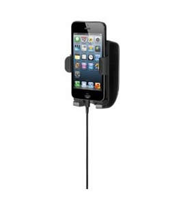 Kensington K39687AM Soundwave 5 Sound Amplifying Car Mount with Charger for iPhone 4/4S/5 - Black