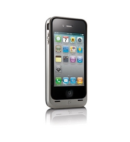 Kensington PowerGuard Battery Case for iPhone 4 (Silver) (Fits AT&T iPhone)